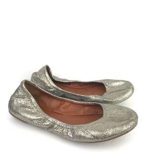 Lucky Brand Silver Emma Flats